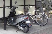 バイクや自転車の遺品