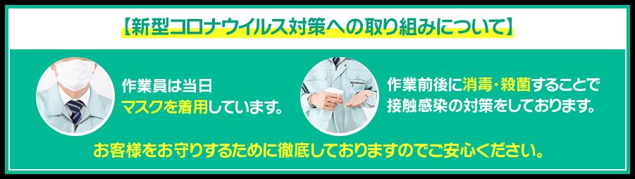 新型コロナウイルス感染予防対策の実施
