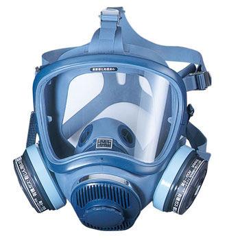 特殊清掃の防毒マスク