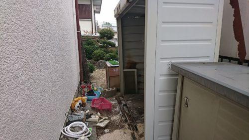 堺市南区の物置の解体