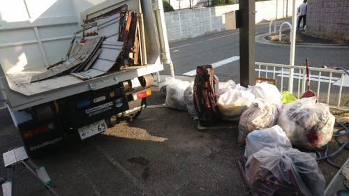 堺市南区の物置の解体、不用品回収終了