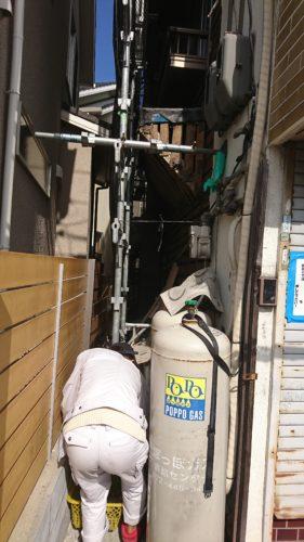 堺市北区の解体作業
