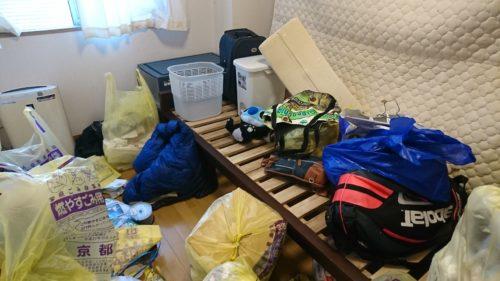 京都府山科区でのゴミ屋敷の片付け