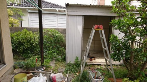 奈良県生駒市での物置の解体処分