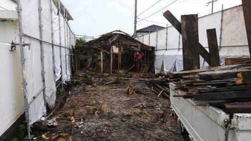 松原市の空き家解体