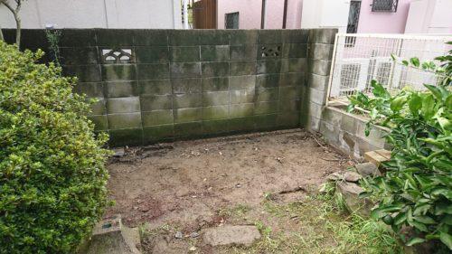 堺市北区の物置の解体処分完了